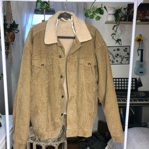 Corduroy Tan Lined Jacket!!